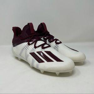 New Adidas Adizero Football Cleats Maroon/White EH1311